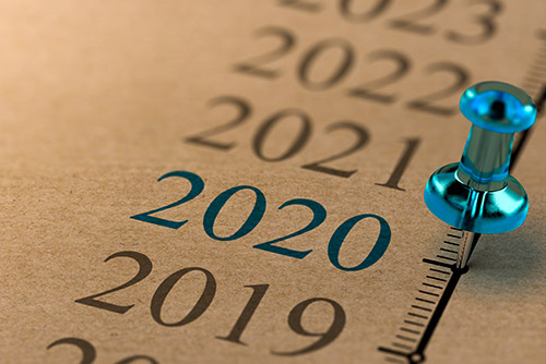 years of 2019-2023 shown with a push pin highlighting year 2020
