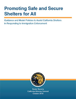 Guidance and Model Policies to Assist California Shelters