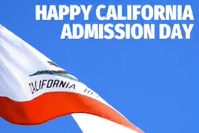 California Admission Day Video