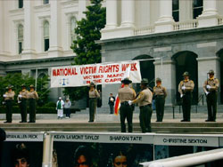 color guard for the National Victims Rights Week at the Capitol