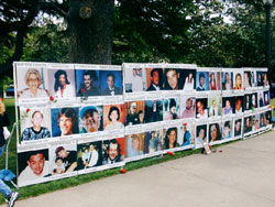 Mural of Murder Victims at the California Capitol on April 20